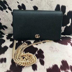 Gucci Petite Marmont Wallet with Chain